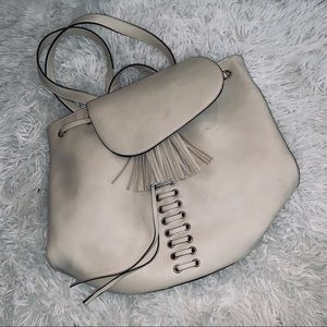 Faux leather back pack